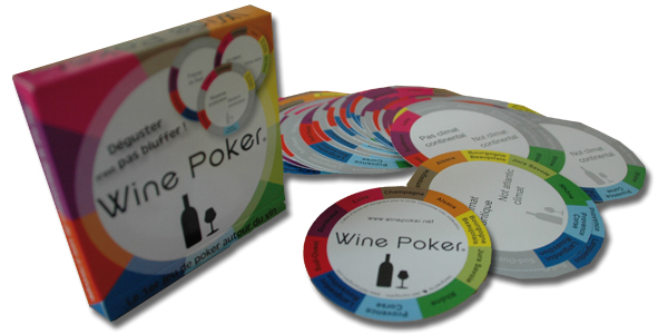 Jeu wine poker - Packaging, conception